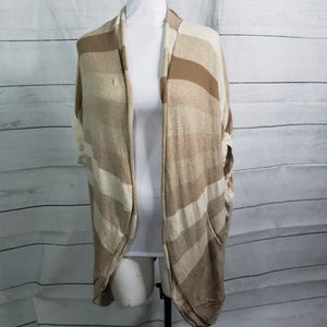 Sparrow Anthro open front cardigan striped S-M